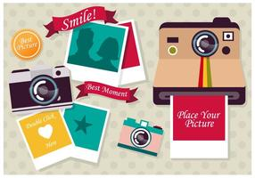Photo Collage Vector Template
