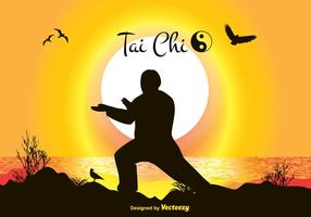 Tai Chi Vektor Illustration