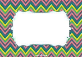 Colorful Chevron Pattern Background Vector