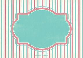 Decorative Striped Scrap Vector Background