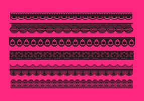 Lace Trim Patterns Vector