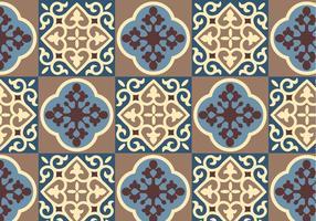 Vetor de padrão floral azul