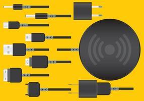 Vecteurs de chargeur de téléphone sans fil
