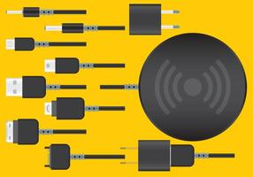 Wireless Phone Ladegerät Vektoren