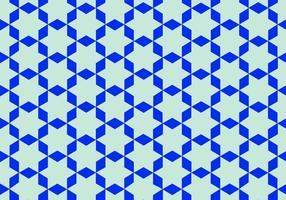 Blå arabiska mönstervektor