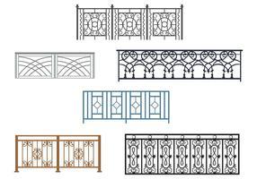 Vecteurs de rails courbes de balcon