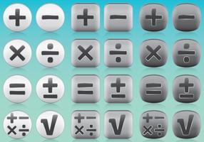 Vecteurs d'icônes d'applications mathématiques