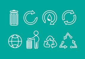 Free Trash Recycling Vektor Icons