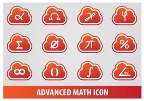 Vecteurs avancés d'icônes mathématiques