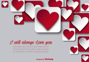 Valentine's day background with hearts vector