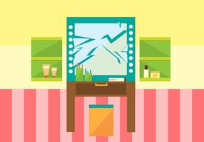 Free Mirror Cracked Vector Illustration