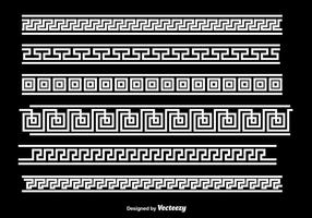 Greek Key White Border Vectors