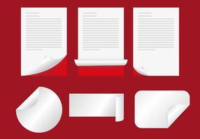 Página Flip Vector