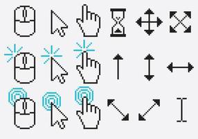 Pixel-Cursor-Vektoren