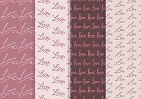 Vector Love Seamless Patterns