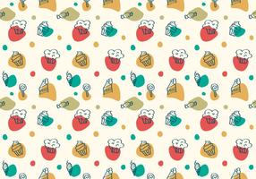 Free Cake und Dessert Vector Patterns