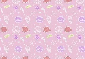 Patrón libre del vector de la torta rosada