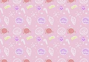 Gratis Pink Cake Vector Patroon