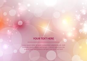 Pink Bokeh Vector Background Illustration