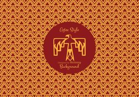 Aztec Style Pattern Vector Background