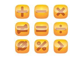 Symboles mathématiques vecteurs bouton