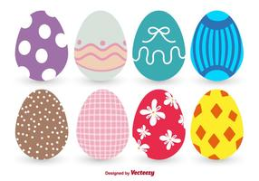 Vettori di uova di Pasqua colorate
