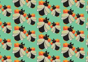 Gratis Black Termite Pattern Vector