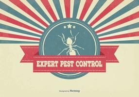 Retro Pest Control Illustratie
