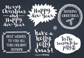 Hand Drawn Style Christmas Labels vector