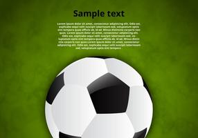 Sfondo vettoriale di pallone da calcio gratis