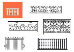 Tipos de vectores balcón barandilla