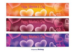 Valentinstag Vektor Banner Pack