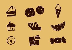 Icone vettoriali gratis di panetteria