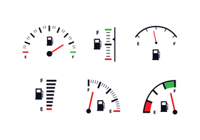 Free Fuel Gauge Icon Vector