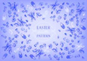 Easter Doodle Background Vector