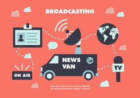 Gratis Flat News Journalist Vector Achtergrond