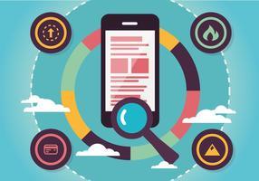 Fundo de Vector de Marketing Digital Plano Gratuito