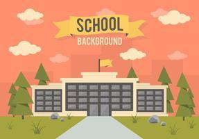 Free School Landschaft Vektor Hintergrund