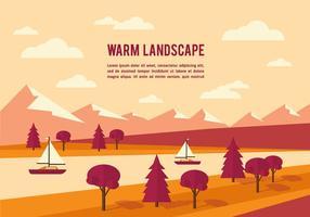 Fundo de vetor de paisagem de verão grátis