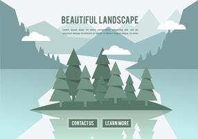 Free beautiful landscape vector backround