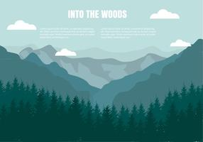 Gratis Flat Mountains Landscape Vector