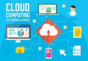 Gratis Vector Cloud Elements