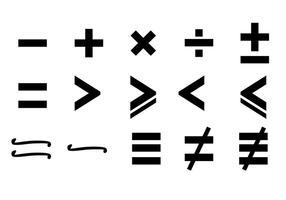 Vector de símbolos matemáticos