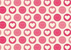 Patrón geométrico del vector de los corazones