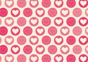 Geometric Hearts Vector Pattern