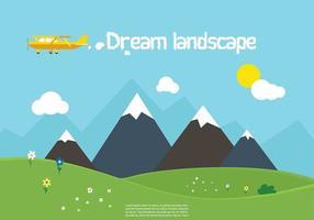 Freie Vektor Natur Landschaft