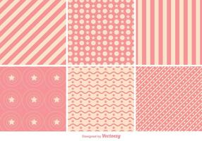 Geometric Pink Pattern Vectors