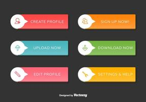 Navigation Web Interface Buttons vector