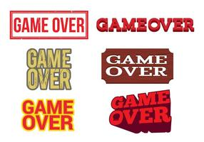 Game Over Vector Labels