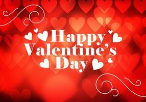 Fondo del corazón del día de San Valentín Vector